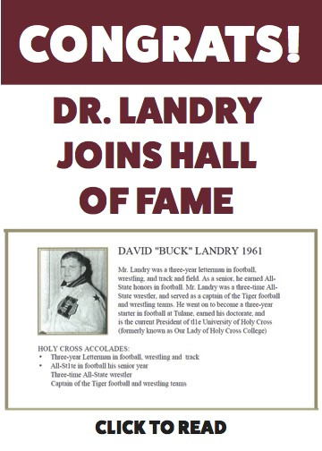 Dr. Landry inducted into the Hall of Fame!